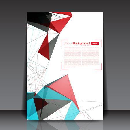 추상 모양 - 비즈니스 플라이어 템플릿 벡터 디자인 일러스트