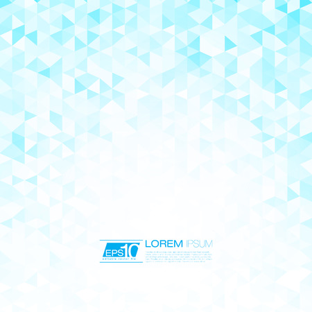 Blue Mosaic Winter Background | EPS10 Vector Design Vector
