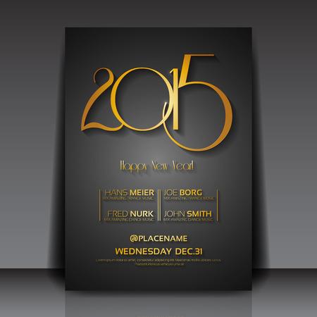 музыка: 2015 Шаблон Новый Год векторные объявления