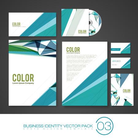company background: Set dell'attivit� Identity Vector Templates | Design pacchetto