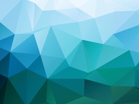 behang blauw: Abstracte Veelhoeken vorm achtergrond Stock Illustratie