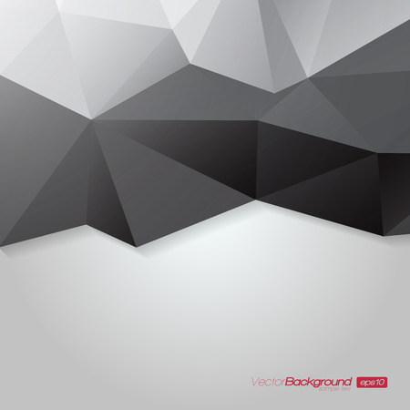 Abstract Polygons Shape Background Ilustração