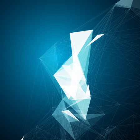 Abstract mesh background with circles, lines and shapes   EPS10 Futuristic Design Zdjęcie Seryjne - 34046964