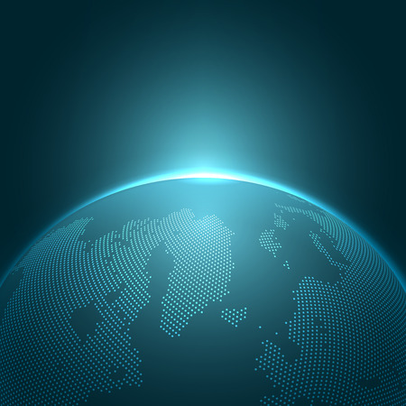 zeměkoule: Moderní Globe vektorové ilustrace | EPS10 Pozadí Ilustrace