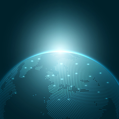 현대 글로브 벡터 일러스트 | EPS10 배경