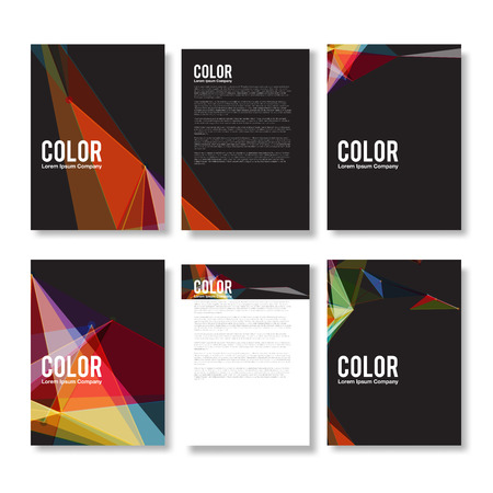 Set of Colorful Modern Abstract Flyers - EPS10 Brochure Design Templates Vector