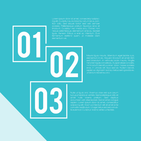 number three: Steps Presentation Template | EPS10 Vector
