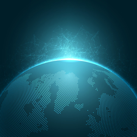 worldwide: Modern Globe Vector Illustration | EPS10 Background