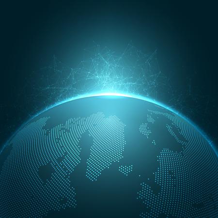 globális kommunikációs: Modern Globe vektoros illusztráció | EPS10 Háttér Illusztráció