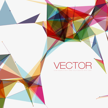Abstract Shapes Background | EPS10 Futuristic Design Ilustração