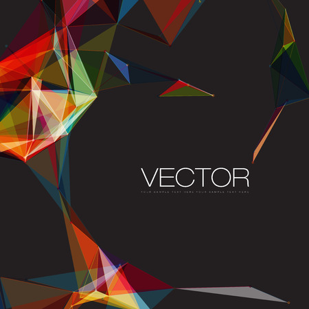 Abstract mesh background with circles, lines and shapes | EPS10 Futuristic Design Vector
