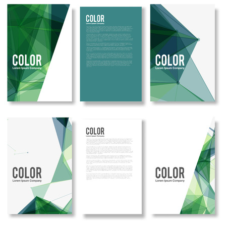 polygon: Set of Colorful Modern Abstract Flyers - EPS10 Brochure Design Templates