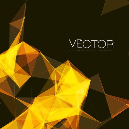 メッシュの背景に、円、線、図形を抽象化 |EPS10 未来的なデザイン  イラスト・ベクター素材