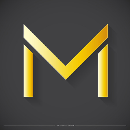m: Letter M icon. Illustration