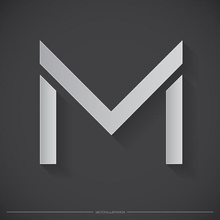 Letter M icon. Banco de Imagens - 35965875