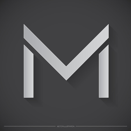Letter M icon. Illustration