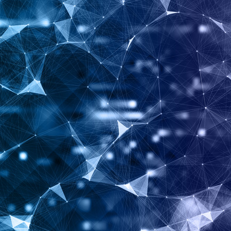 Abstract Mesh Background of Artificial intelligence
