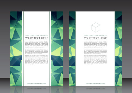 double page: Business Flyer Template  Illustration