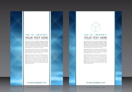 blank poster: Business Flyer Template  Illustration