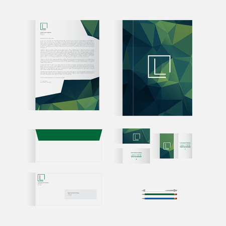 originality: Green Stationery Template Design for Your Business | Modern Vector Design