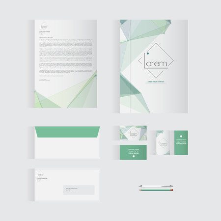 documentation: Green Stationery Template Design for Your Business | Modern Vector Design