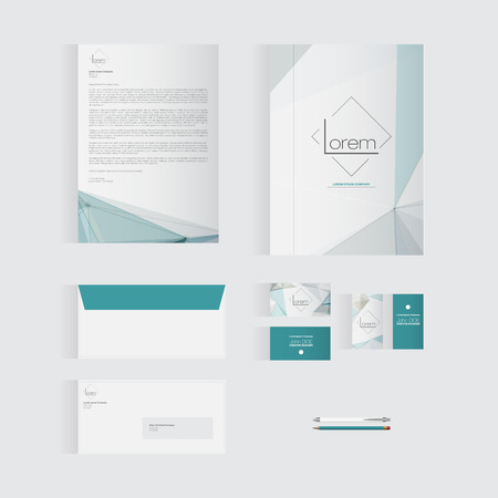 Blue Stationery Template Design for Your Business | Modern Vector Design 版權商用圖片 - 37256796