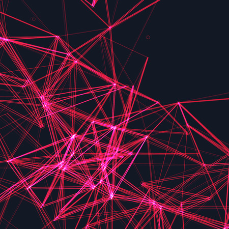 Abstract Pink Laser Light | Vector Background