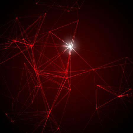 laser light: Abstract Red Laser Light | Vector Background Illustration