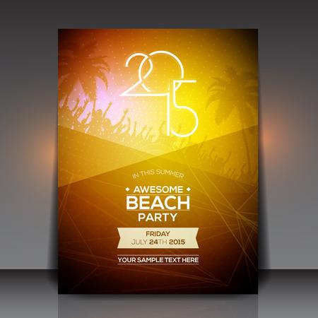 sensation: Summer Beach Party Flyer - Vector Design