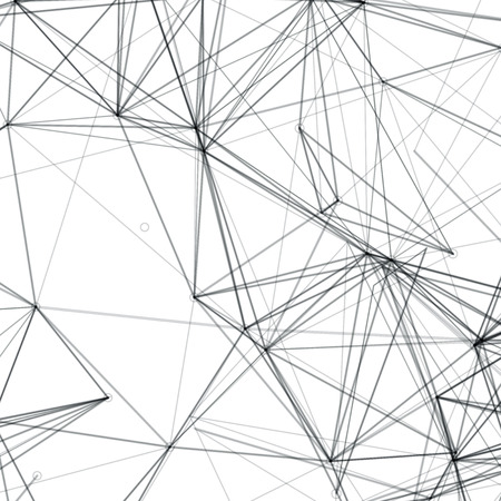 Abstract Shapes Vector Background   Line Art