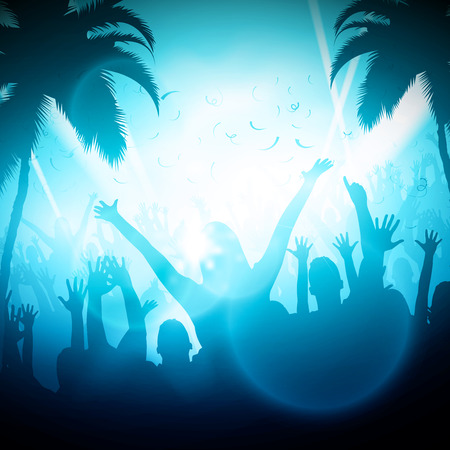Party People in Club  Vector Background  EPS10 Editable Design Illusztráció