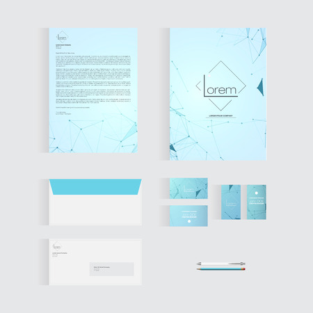 Blue Stationery Template Design for Your Business  Modern Vector Design 向量圖像