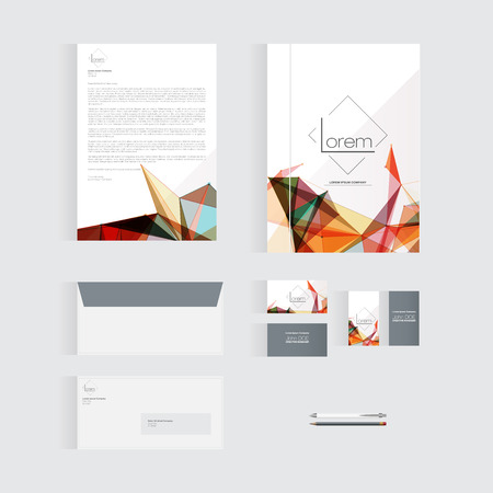 documentation: Colorful Stationery Template Design for Your Business  Modern Vector Design