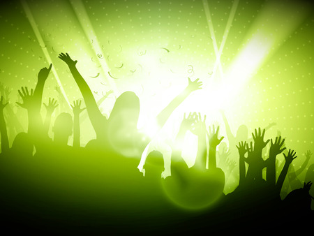 Party People in Club  Vector Background  EPS10 Editable Design Ilustração