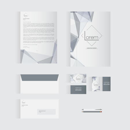 documentation: Grey Stationery Template Design for Your Business  Modern Vector Design