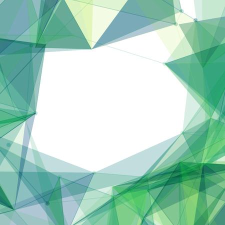 mesh: Green Mesh Shapes Frame Vector Background Design Illustration