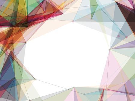 カラフルなメッシュ形状フレーム ベクトル背景デザイン  イラスト・ベクター素材