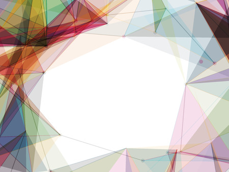 Colorful Mesh Shapes Frame Vector Background  Design