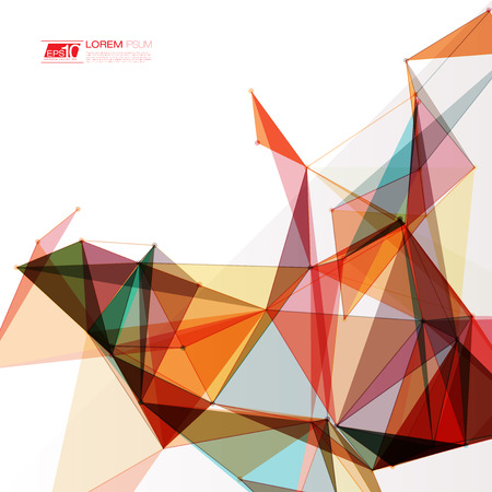 Abstract shapes background Futuristic Design Stock Illustratie