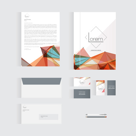 back to the future: Colorful Stationery Template Design for Your Business  Modern Vector Design