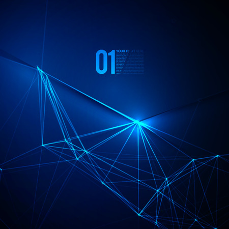 Abstract Blue Laser Light  EPS10 Vector Background Illustration