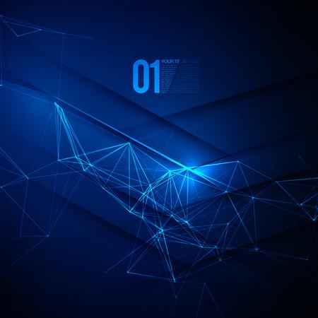 추상 블루 레이저 빛 EPS10 벡터 배경