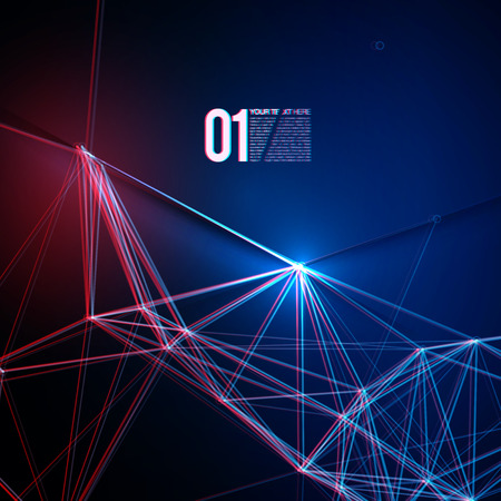 Abstract Red Blue Laser Light  EPS10 Design Vector