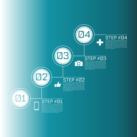 Step by Step Infographics Success Vector Design Template  EPS10 Editable Background Vector