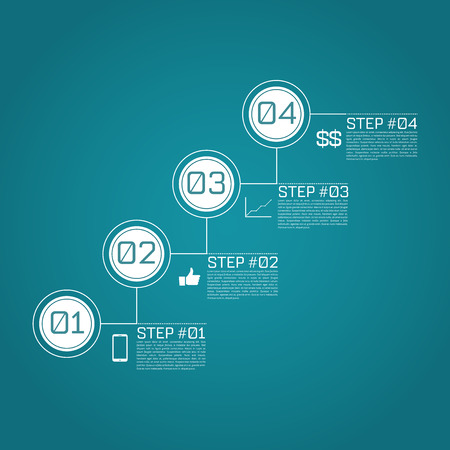 steps: Step by Step Infographics Success Vector Design Template  EPS10 Editable Background Illustration