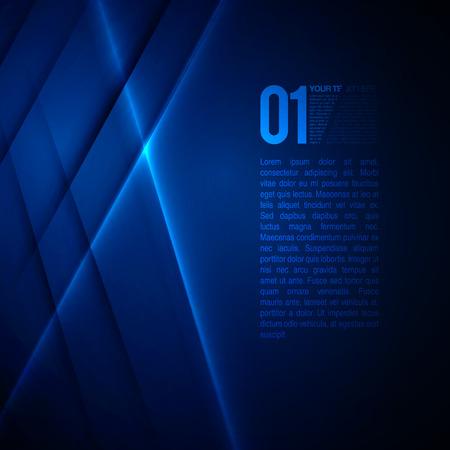 Abstraktní modré Business Design EPS10 Vector Background