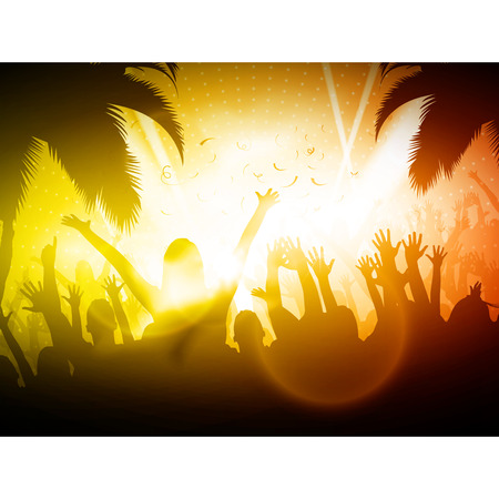 Beach Party Vector Background Vector