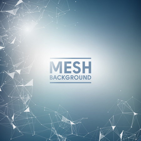 Blue Mesh Vector Background  Design
