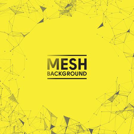 黄色のメッシュ ベクトル背景デザイン