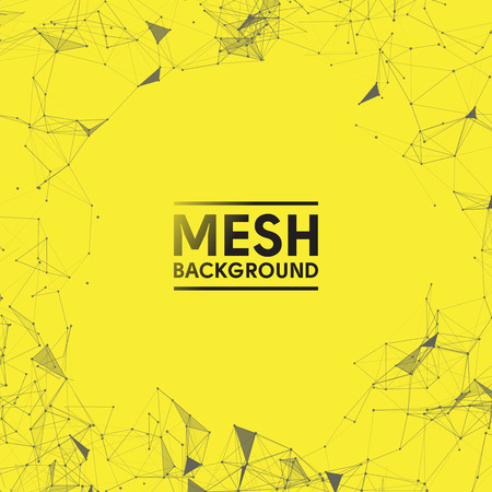 Yellow Mesh Vector Background   Design